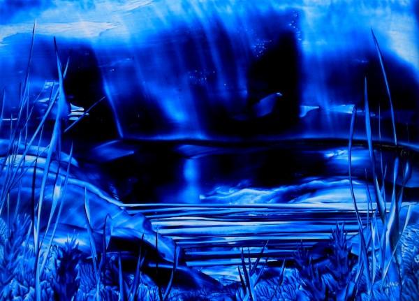 Tranquil Blue Fantasy Landscape