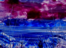 Pink & Blue Fantasy Landscape